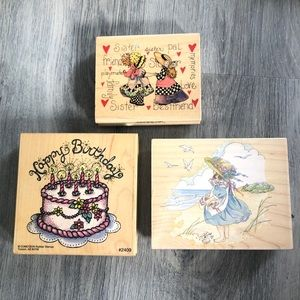 Rubber Stamps Various Lot of 3 NEW, never used